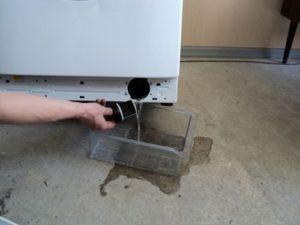 Слив с приподнятой стиральной машины
