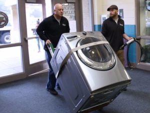 Перевозка большой стиральной машины