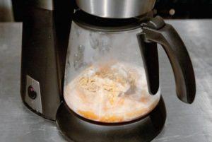 Еда в кофеварке