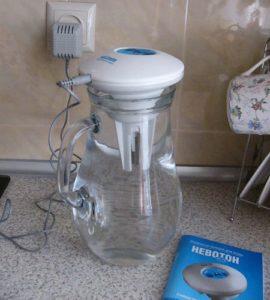 Ионизация воды серебром