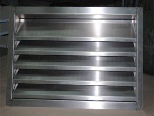 Металлическая жалюзийная решетка для вентиляции