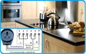 Схема подключения плиты с одной фазой