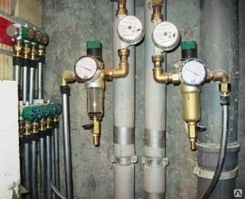 Установка фильтра грубой очистки воды