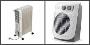Тепловентилятор и масляный обогреватель