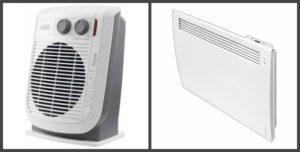 Конвектор и тепловентилятор
