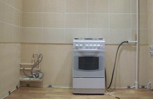 шланг и газовая плита