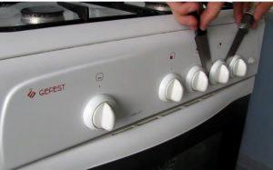 снятие ручек с плиты гефест