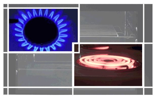 Газовая и электрическая конфорка
