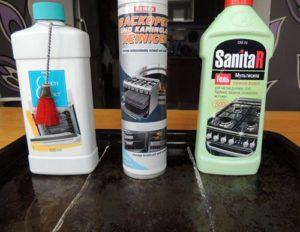 средства для очистки плиты