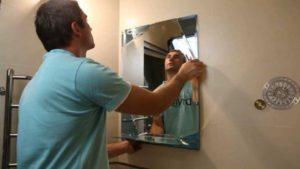 Как наклеить зеркало на зеркало.