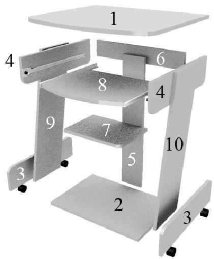 Как собрать компьютерный стол