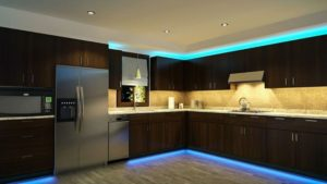 Подсветка кухонного гарнитура.