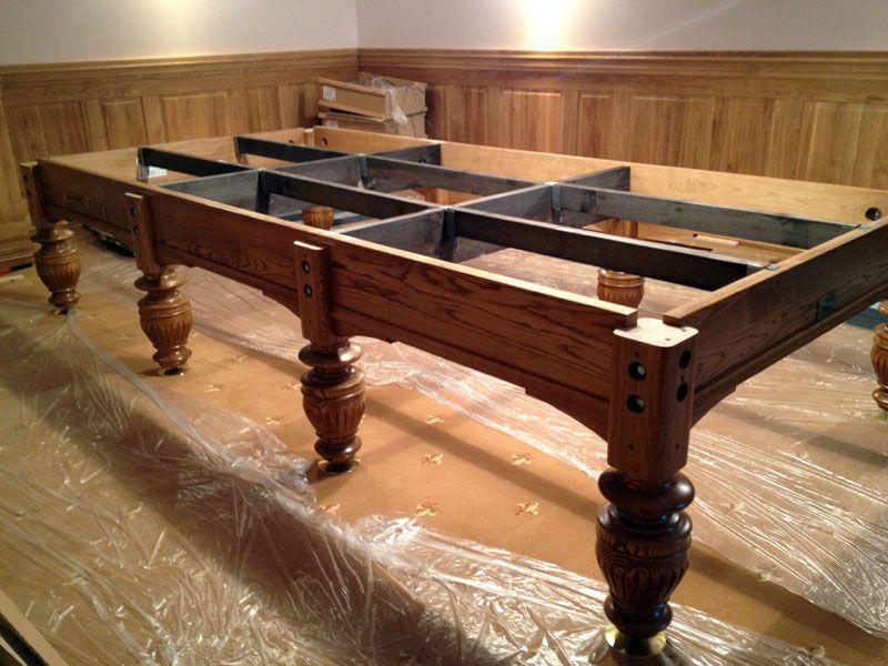 Сборка лафета стола для бильярда..
