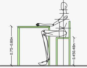 """Высота стула """"Стандарт"""""""