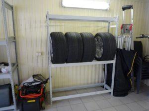 стеллаж для вертикального хранения колёс