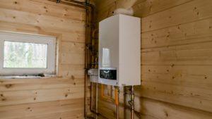 установка настенного газового котла в частном доме