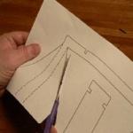 Вырезаем рефлектор из картона