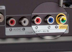 AV вход на телевизоре