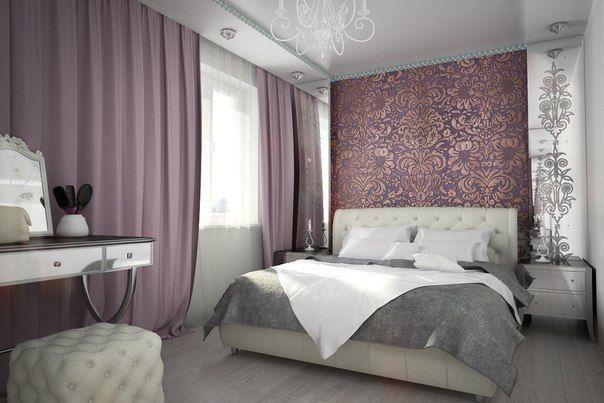 Один из вариантов интерьера с белой кроватью.