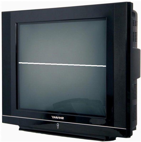 Белая полоса на экране телевизора.