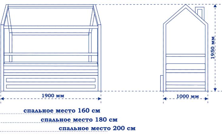 Схема кровати-домика
