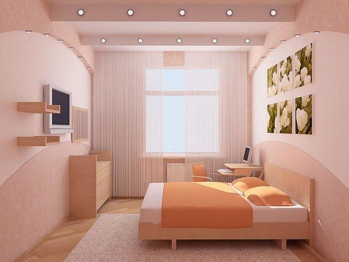 Цвет маленькой спальни.