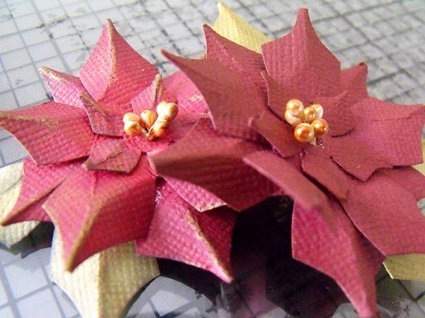 Цветы на ёлку своими руками