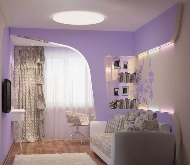 Дизайн спальни с диваном вместо кровати.