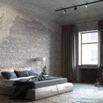 Дизайн спальни в стиле лофт.