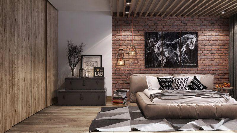 Для стиля лофт характерно много пространства и высокие потолки.