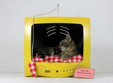 Домик для кота своими руками из старого телевизора