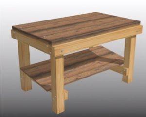Стол из древесины