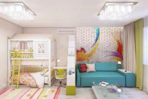 Как правильно зонировать комнату на спальню и детскую