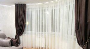 Как красиво повесить шторы в спальне.