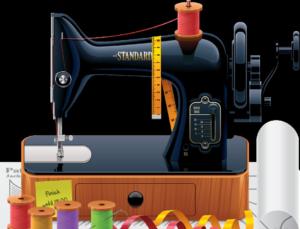 Старая швейная машинка.