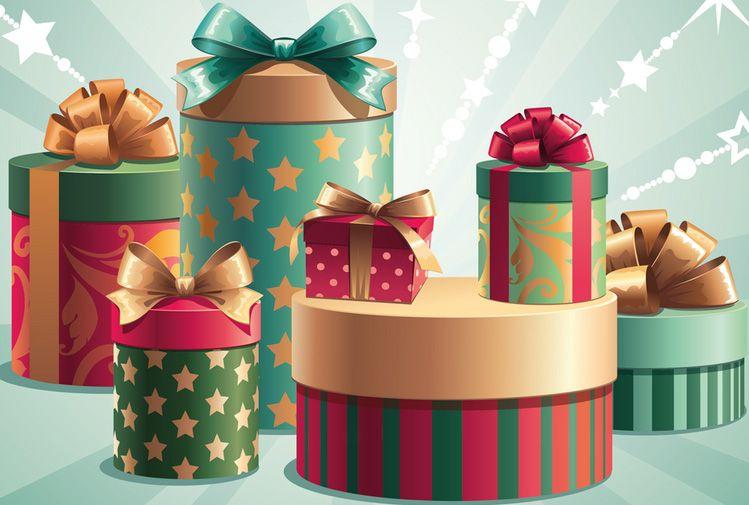 Как сделать подарочные коробки под ёлку
