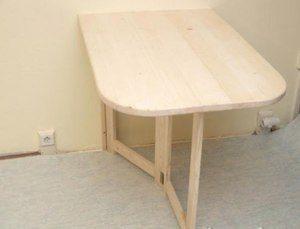 Как сделать прямоугольный стол с откидным механизмом.
