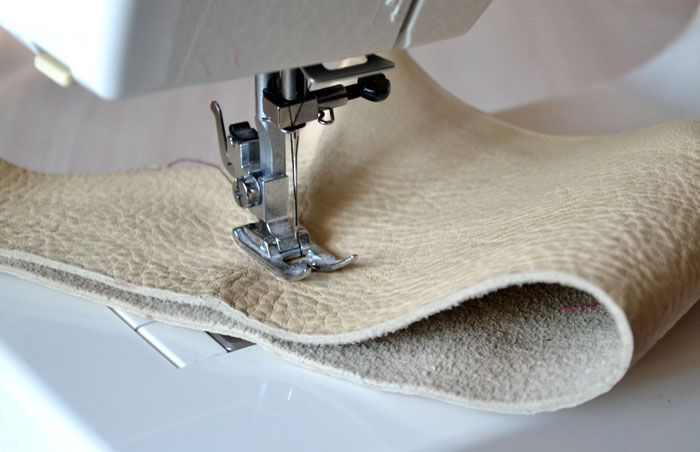 Как шить кожу на швейной машинке