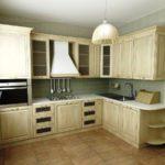 Расположение кухонного гарнитура.