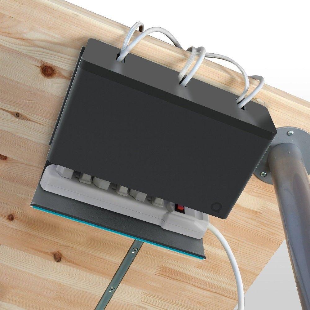 Как спрятать провода от компьютера под столом
