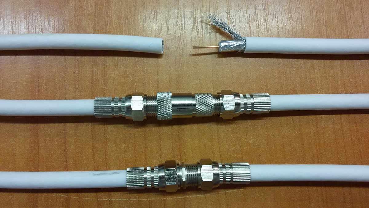Варианты удлинения антенного кабеля.