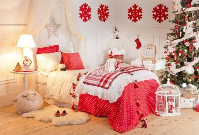 Украшение спальни к Новому году