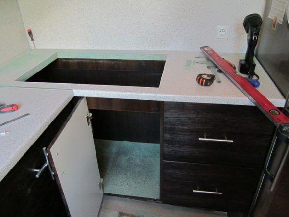 Крепление столешницы в кухонном гарнитуре