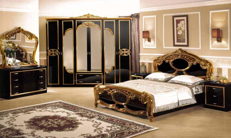 Вариант роскошного спального интерьера.