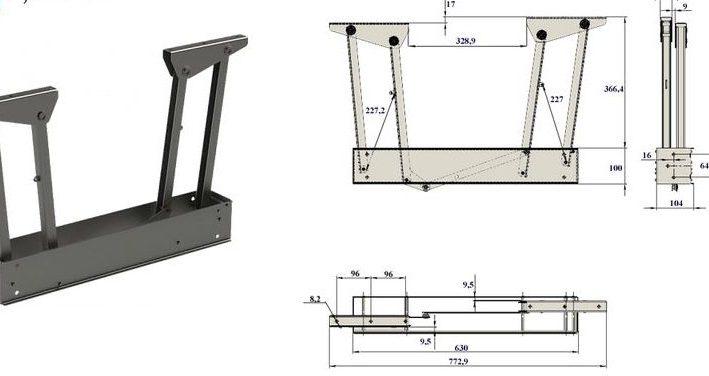Механизм трансформации стола.