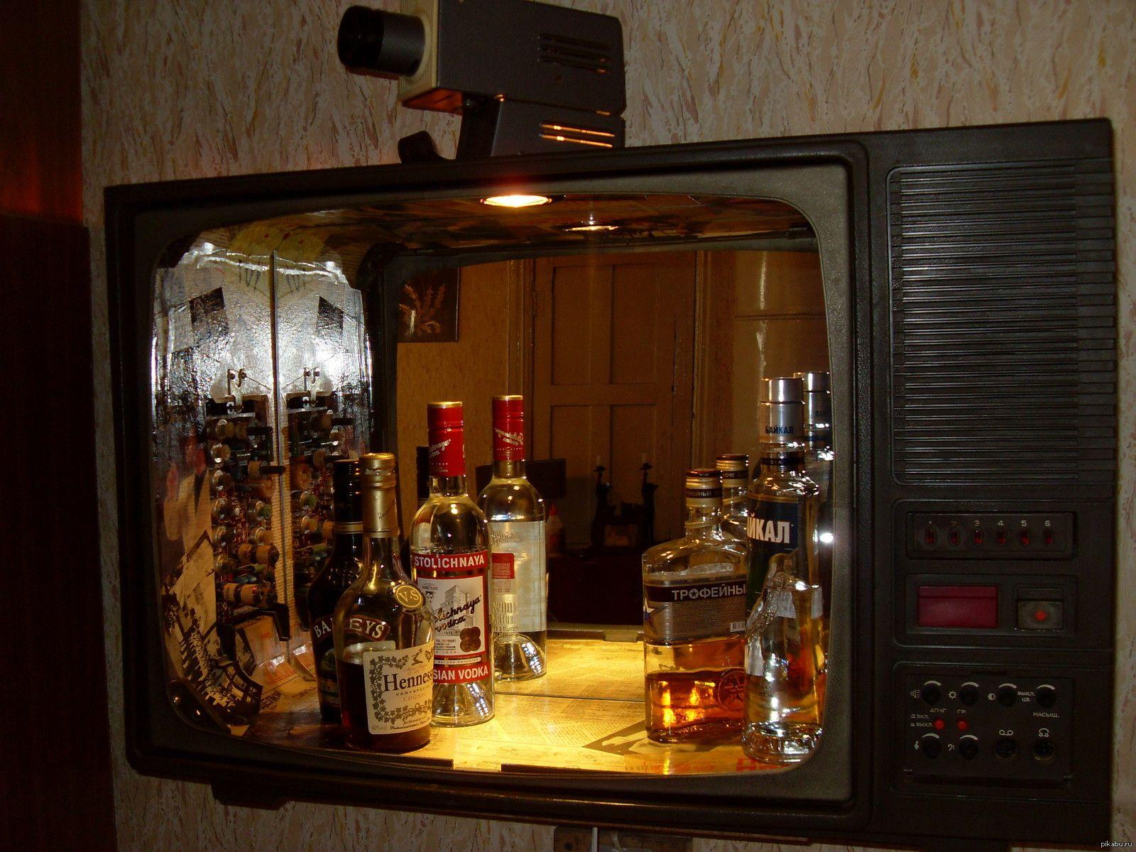 Мини бар своими руками из старого телевизора