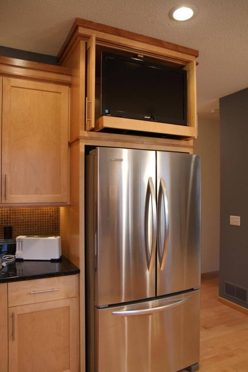 Можно ли ставить телевизор на холодильник.