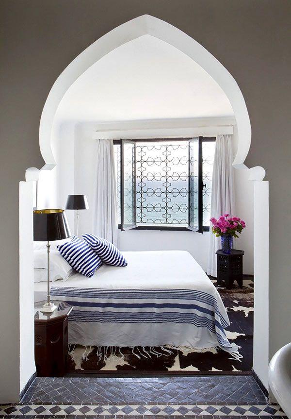 Окна марокканской спальни
