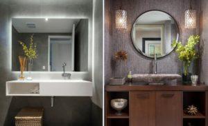 Особенности выбора параметров зеркала в ванную