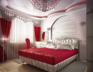 Особенности оформления спальни в красных тонах